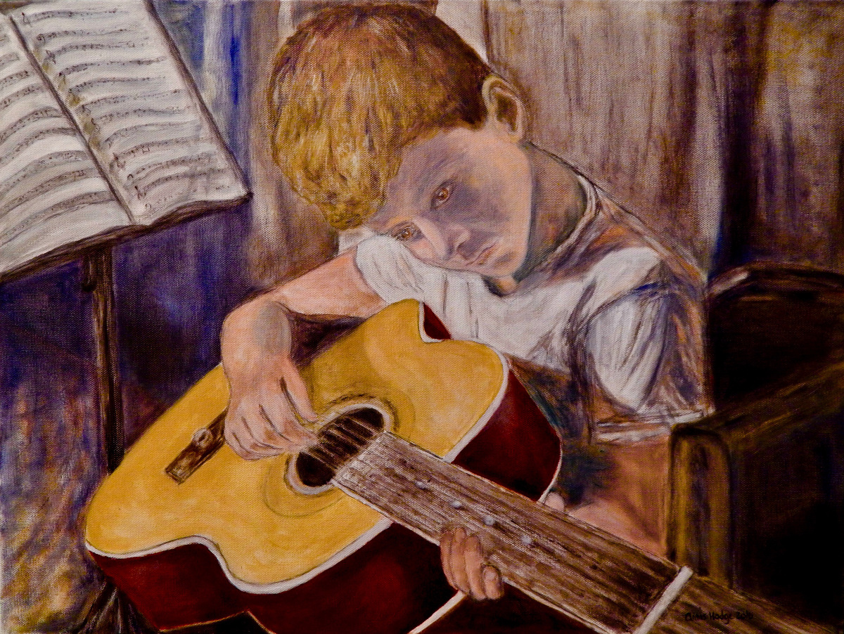 Young John Painting by Arris Grace Hodge